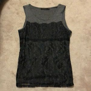 Gray and Black Lace Tank. From Limited.